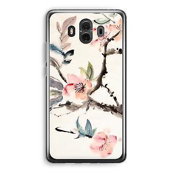 Huawei Mate 10 Transparent Case (Soft) - Japenese flowers