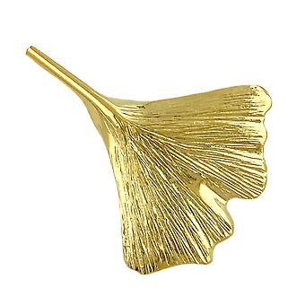 Ginkgo brooch gold brooch, 30 mm Ginkgo leaf, 9 KT GOLD 375