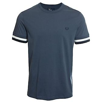 Fred Perry M4562 Bold Tipped T-Shirt Dark Airforce