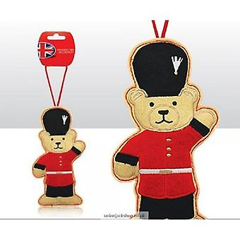 Union Jack Wear British Themed  Guardsman Teddy Bear Christmas Tree  Decoration