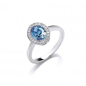 Cavendish franske tidløs Elegance Blå Topaz Ring