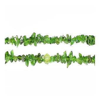 Strand 200+ Green Chrome Diopside 3x5mm Chip Beads Y02315