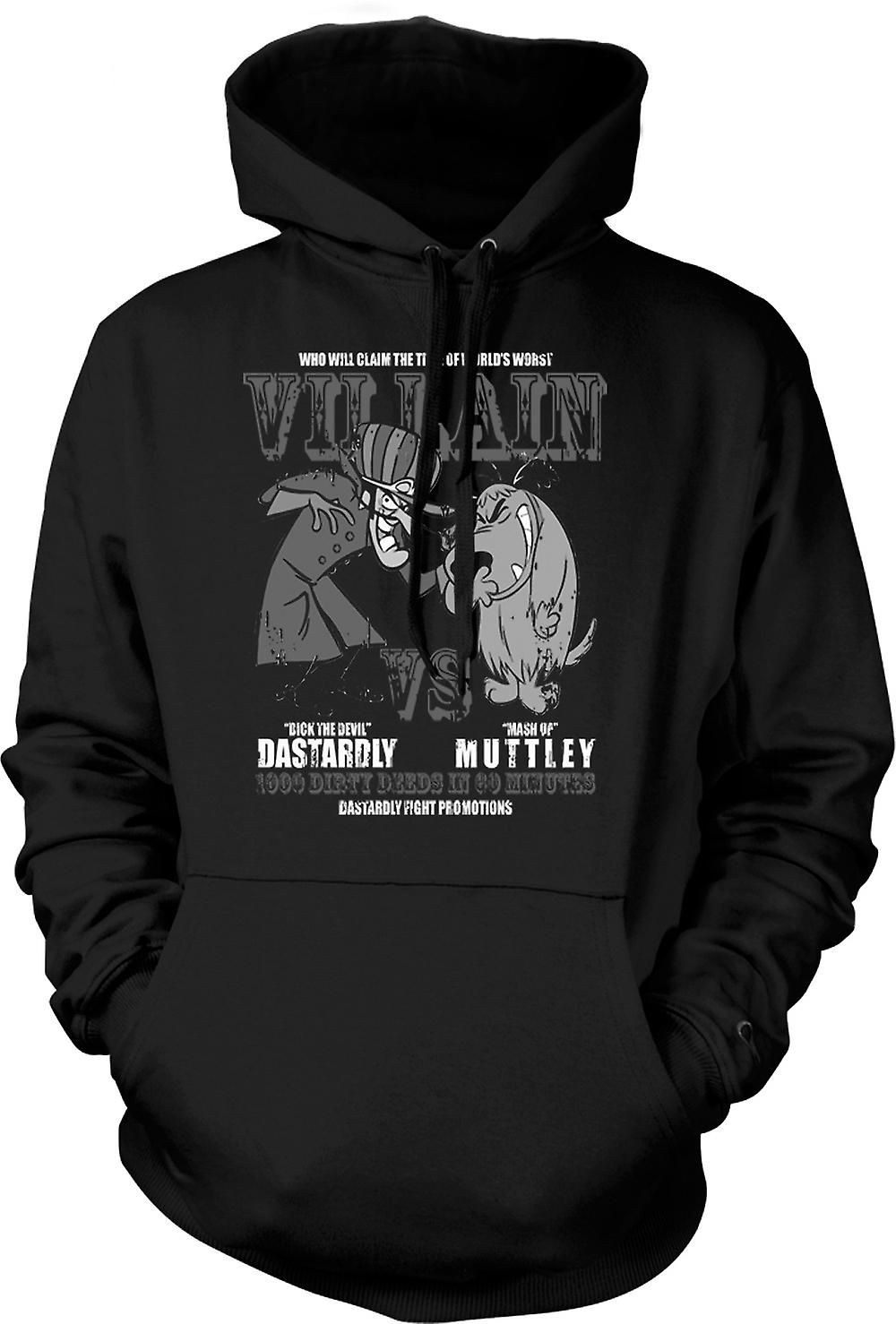 Mens Hoodie - Dastardly And Muttley - Villain - Funny