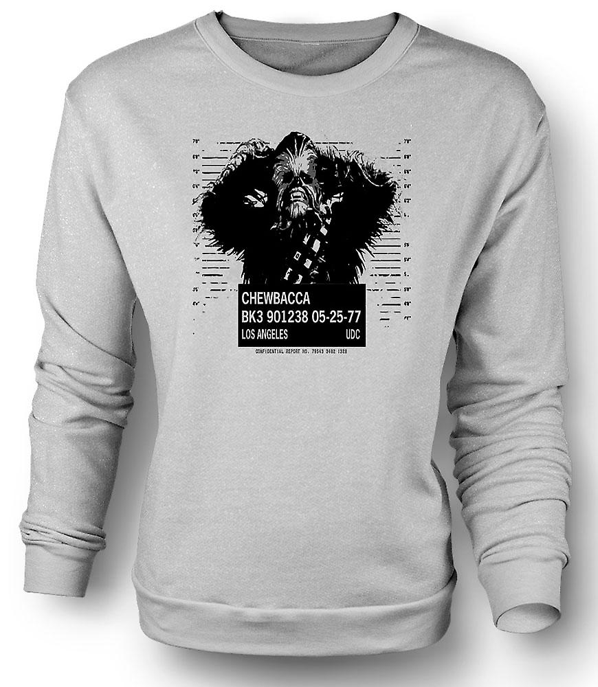 Mens Sweatshirt Chewbacca krus skudd - Star Wars