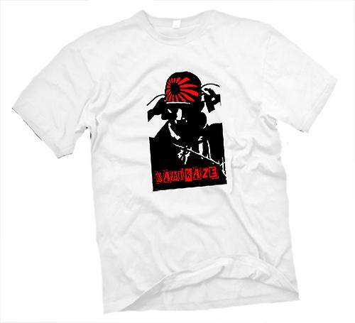 Mens t-skjorte-Kamikaze Pilot japansk