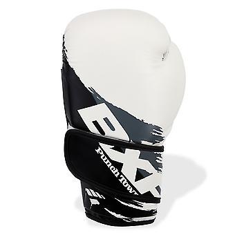 Luvas de boxe de PunchTown BXR KR branco/preto