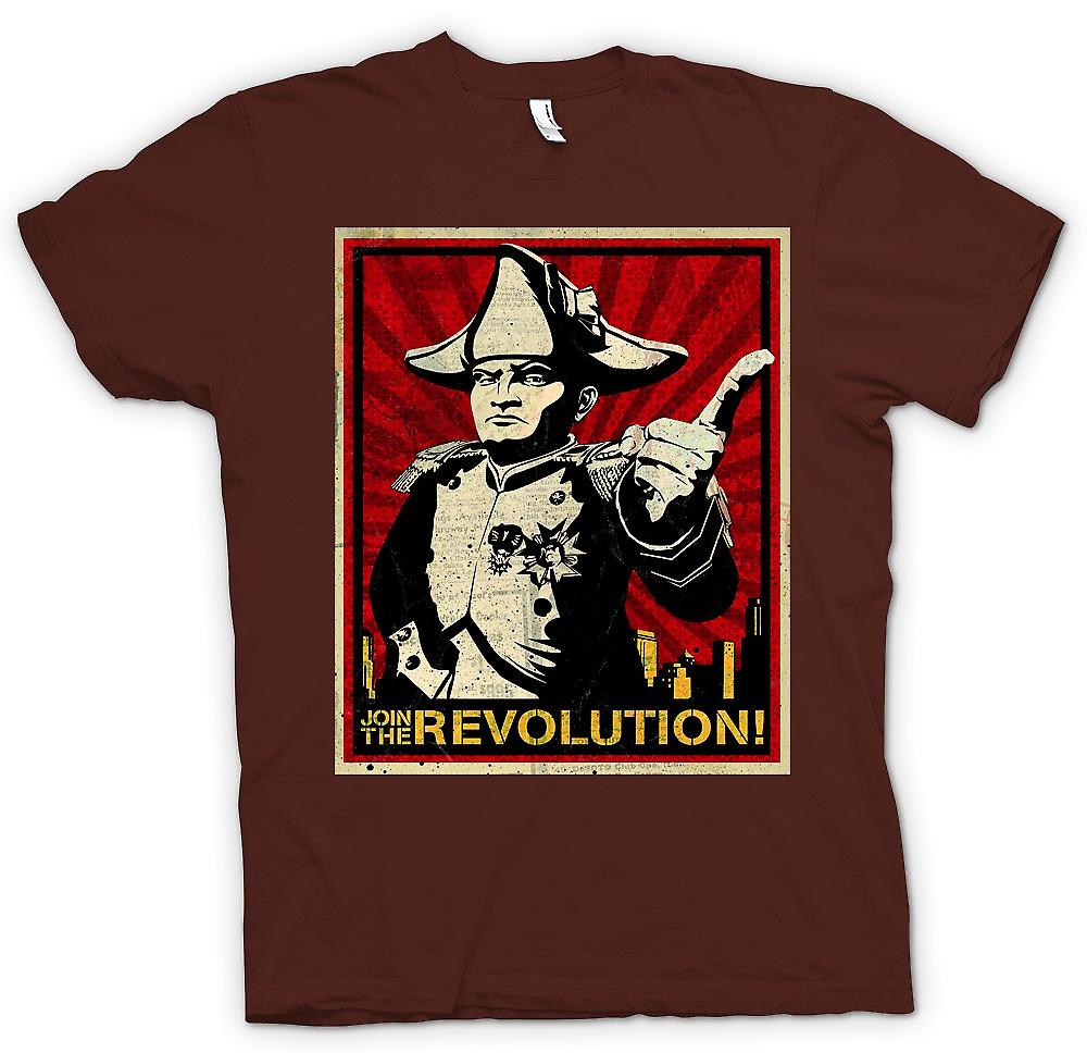Herren T-Shirt - Napoleon - Join The Revolution