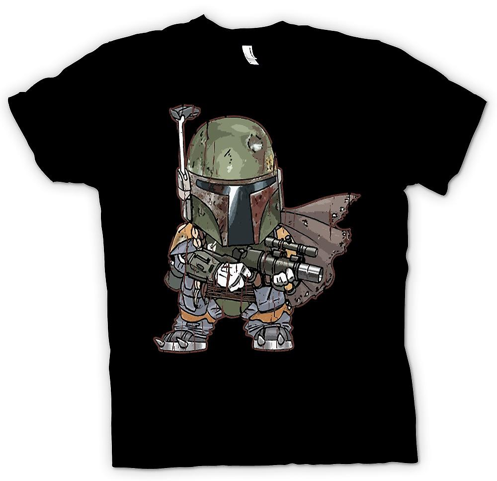 Womens T-shirt - Cute Baby Chibi Bobba Fett - Cool Star Wars Inspired