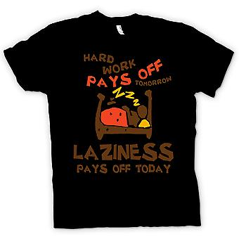 Kids T skjorte hardt arbeid lønner seg i morgen, latskap lønner seg i dag