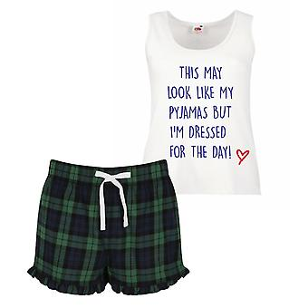 These May Look Like My Pyjamas But I'm Actually Dressed For The Day Pyjamas Ladies Tartan Frill Short