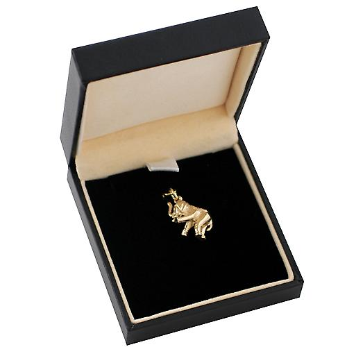 9ct Gold 18x9mm solid Elephant charm