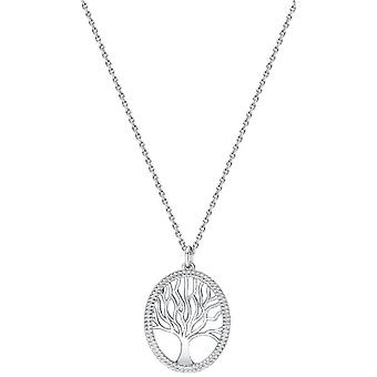 Bella Oval Tree of Life Pendant - Silver