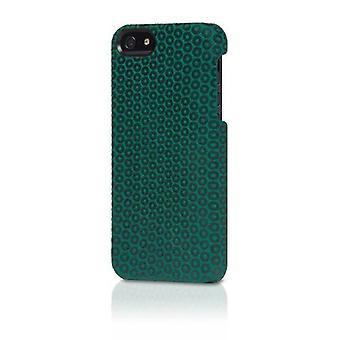 Original Alcantara Italian Design Case for iPhone 5/5s - Black Dots/Green Suede