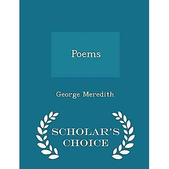 Poems  Scholars Choice Edition by Meredith & George