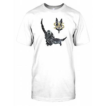 SAS - Special Air Service Soldier and Excalibur Wreathed in Flames Kids T Shirt