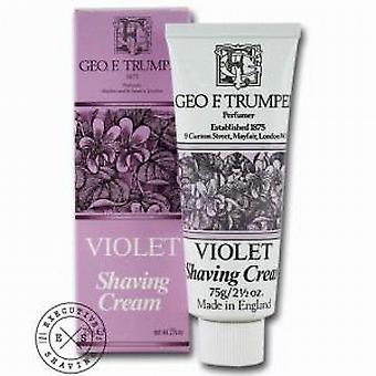 Geo F Trumper Violet Shaving Cream tub 75g