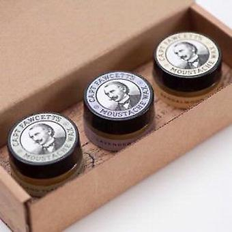 Captain Fawcett 3 Moustache Wax Cornucopia Gift Set