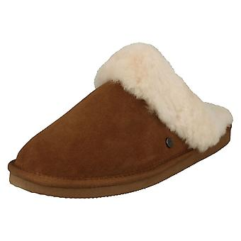Ladies Padders Sheepskin Mule Slippers Cosy