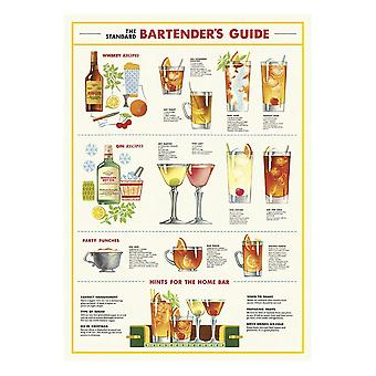 Cavallini barmannen gids Wrapping Paper Poster
