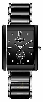 Roamer Womens Ceraline Saphira Black Ceramic stainlesl Crystal 690855415960 Watch