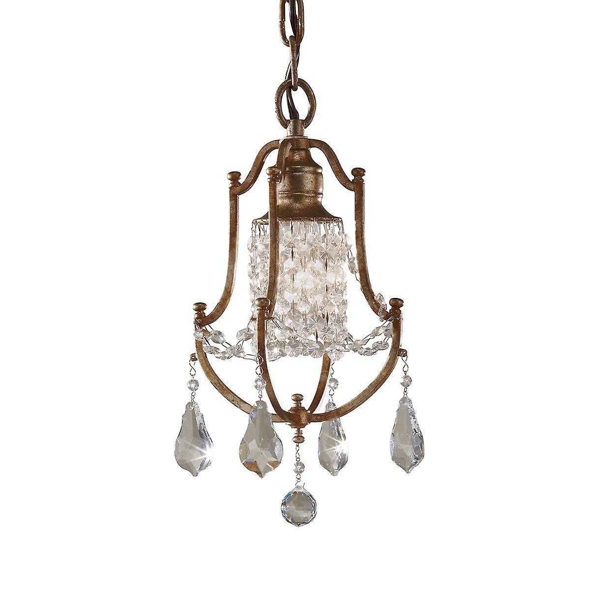 Elstead - 1 Light Mini Pendant - Oxidized Bronze Finish - FE VALENTINA MP