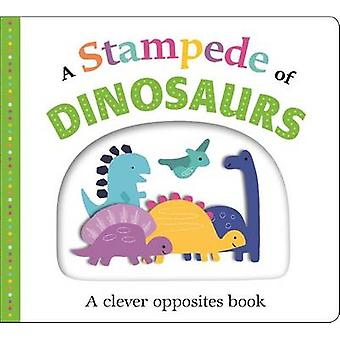 Picture Fit Board Books - A Stampede of Dinosaurs (Large) - An Opposite