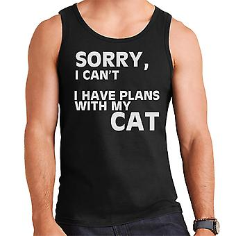 Sorry I Cant I Have Plans With My Cats Men's Vest