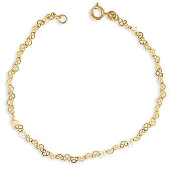 Guldpläterat halsband hjärta urholkad 40 cm