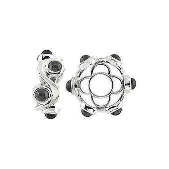 Storywheels Silver & Onyx Cabochon Swirl Wheel S429ON