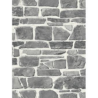 Fonds d'écran Stone Wall Gris Rasch 265620