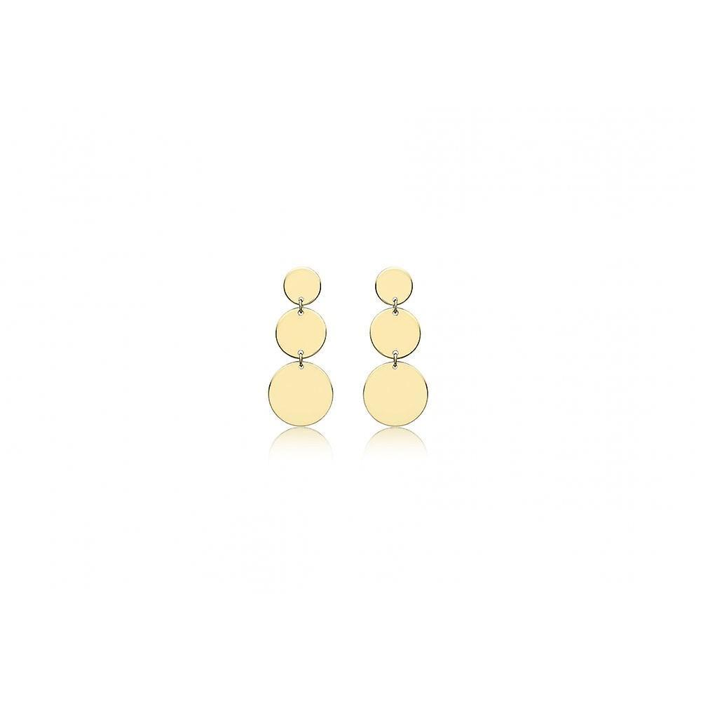 Eternity 9ct or 3 Boucles d&oreilles Disc Drop