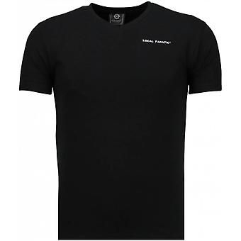 Basic Exclusive V Neck T-Shirt-Black
