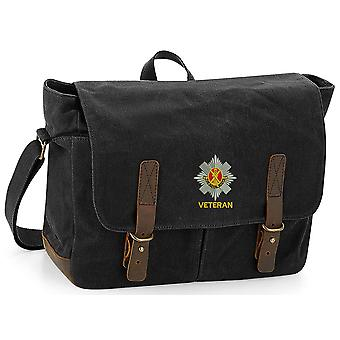 Royal Scots Veteran - Licensed British Army Ricamato Wax ed Canvas Messenger Bag