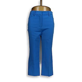 Isaac Mizrahi Live! Donne&apos Pantaloni 24/7 Allunga Crop Blue A263948