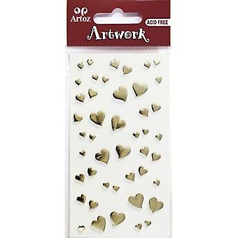 Gold Hearts Craft Embellishment By Artoz