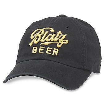 Blatz Beer Black Strapback Hat
