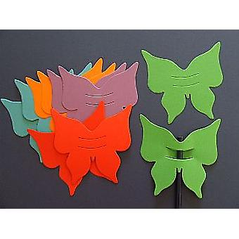 100 Bright Coloured Card Butterfly Finger Puppets   Kids Insect & Bug Crafts