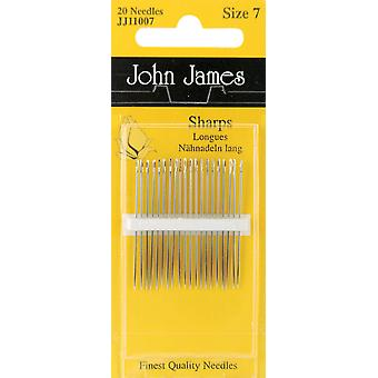 Sharps Hand Needles Size 7 20 Pkg Jj110 07