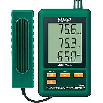 Multi-channel data logger Extech SD800 Unit of measurement Temperature, CO2, Humidity 0 up to 50 °C 10 up to 90 % RH