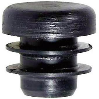 PB Fastener 085 0120 699 03 Plug With Fins For Round Profile Black (Ø x H) 12 mm x 15.5 mm