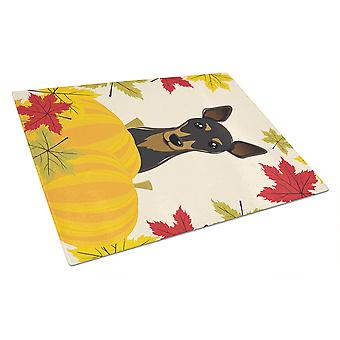 Min Pin Thanksgiving Glass Cutting Board Large BB2046LCB
