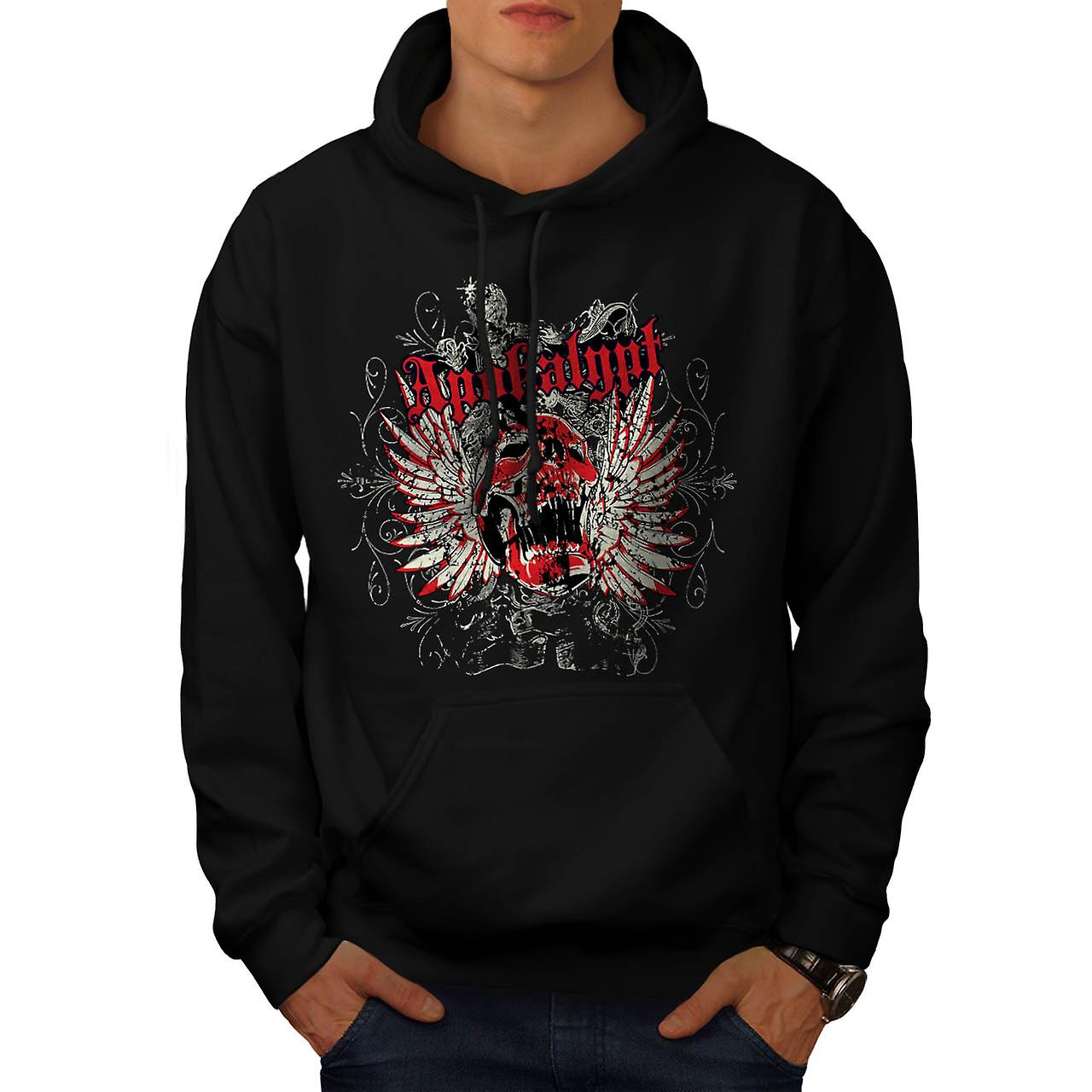 Apocalypse Dead Curse Skull Head Men Black Hoodie | Wellcoda