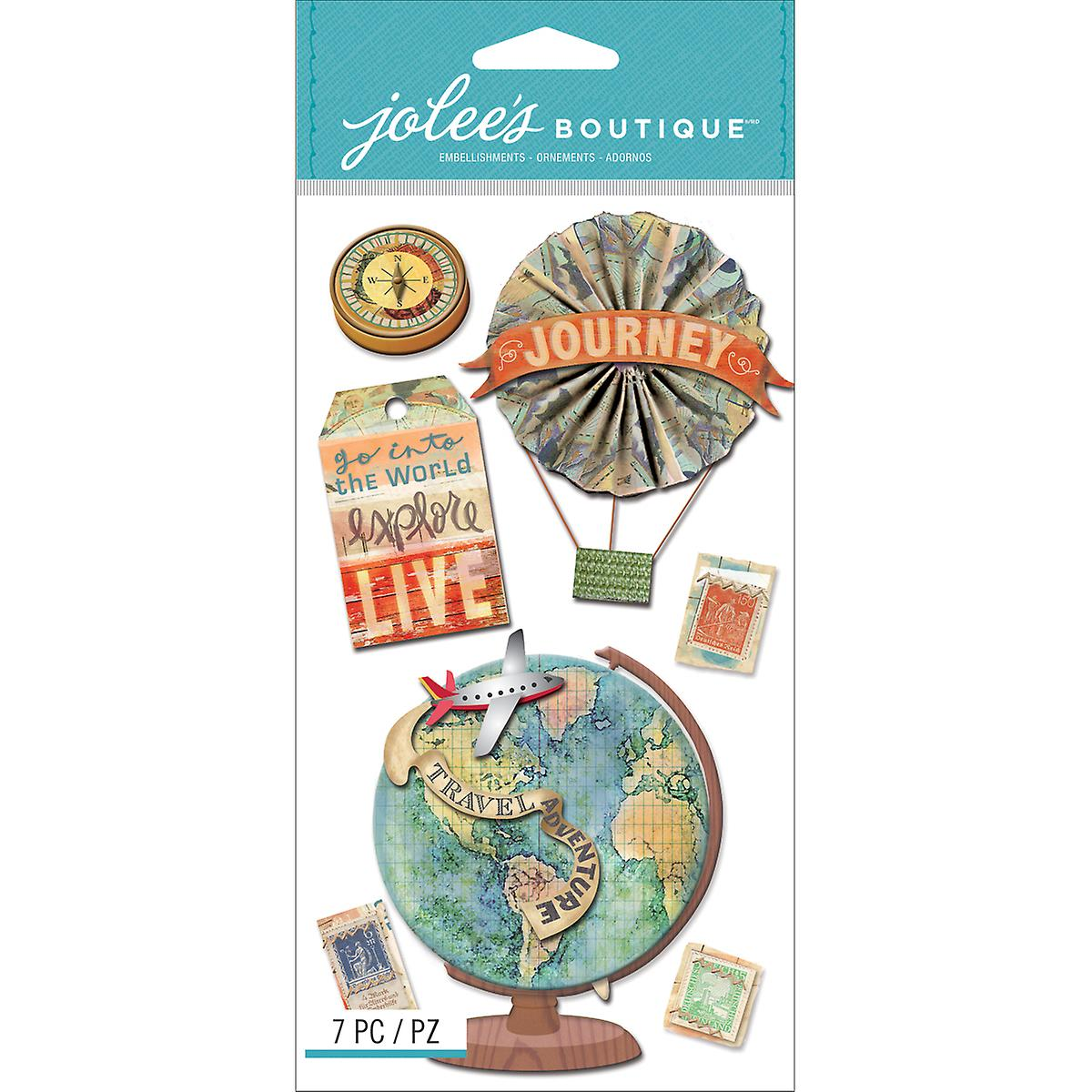 Jolee's Boutique Dimensional Stickers-Map Medallions E5050621