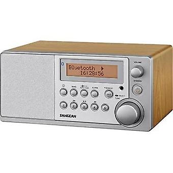 DAB+ Table top radio Sangean DDR-31 BT AUX, Bluetooth, DAB+, FM Wood