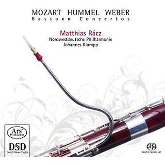 Matthias Racz - Mozart, Hummel, Weber: Importación de USA de conciertos para fagot [SACD]