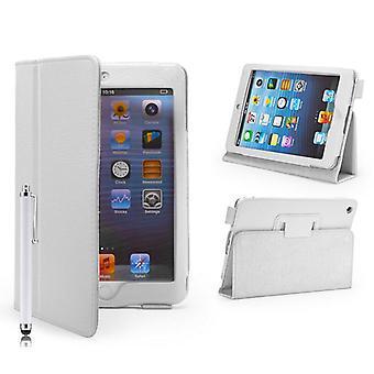 Etui skórzane Case dla Apple iPad Mini + rysik - biały