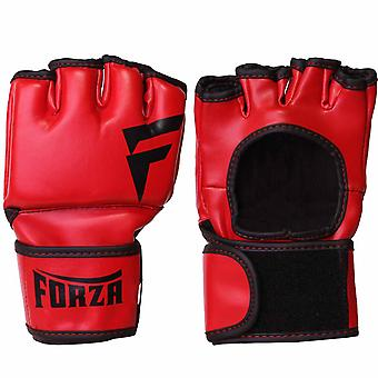 Forza Sports Vinyl Training Gloves - Red/Black