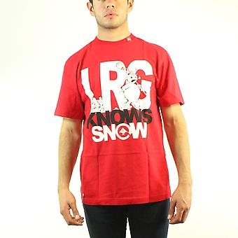 Lifted Research Group Snowman LRG Knows Your Snow Men's Red T-shirt