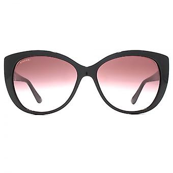 Bvlgari Two Tone Cateye Sunglasses In Black