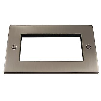 Causeway 2 Gang Quad Modular Plate, Satin Chrome